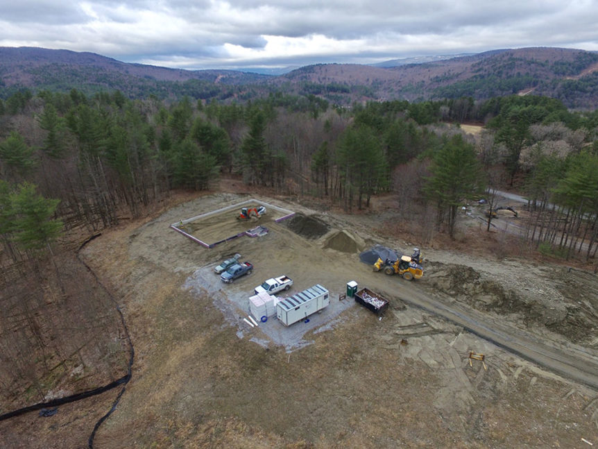 Breaking ground at our new office location in Middlesex VT